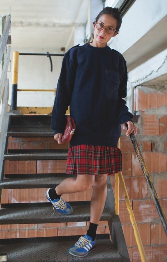 Επίλεξε μια μίντι καρό φούστα για ιδιαίτερες εμφανίσεις από το πρωί μέχρι  το βράδυ. cf09db065a7