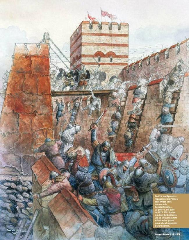 626 μ.Χ. Η πολιορκία της Κωνσταντινούπολης από Αβάρους, Σλάβους και Πέρσες