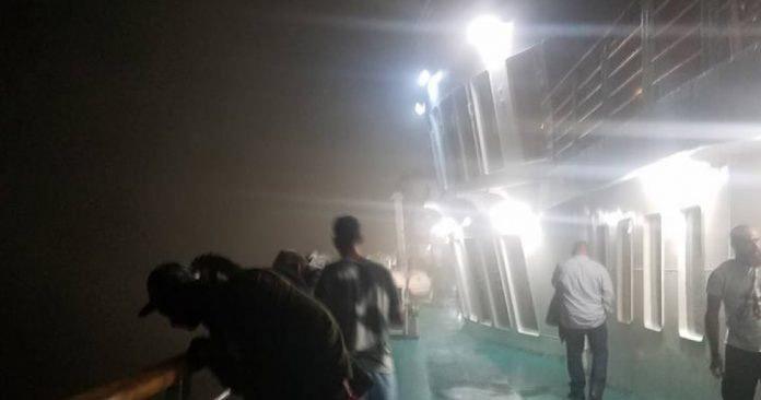 Φωτιά στο πλοίο Ελ. Βενιζέλος