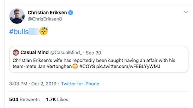 «Ροζ» σκάνδαλο στην Τότεναμ: Κοιμήθηκε ο Βερτόνγκεν με τη γυναίκα του Έρικσεν;