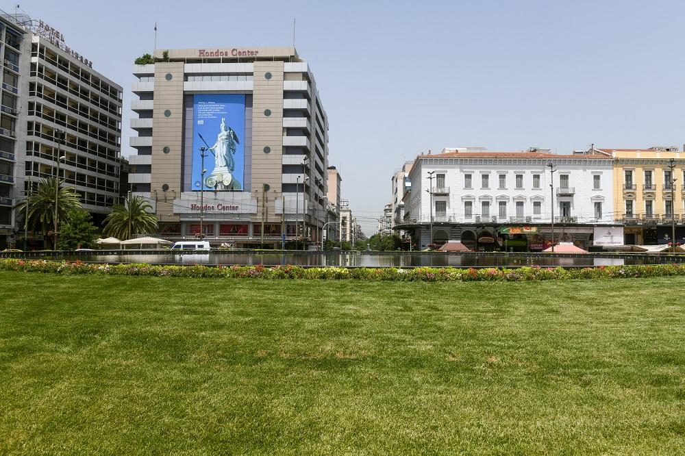 Δήμος Αθηναίων: Εγκαίνια στην πλατεία Ομονοίας με το ανανεωμένο σιντριβάνι